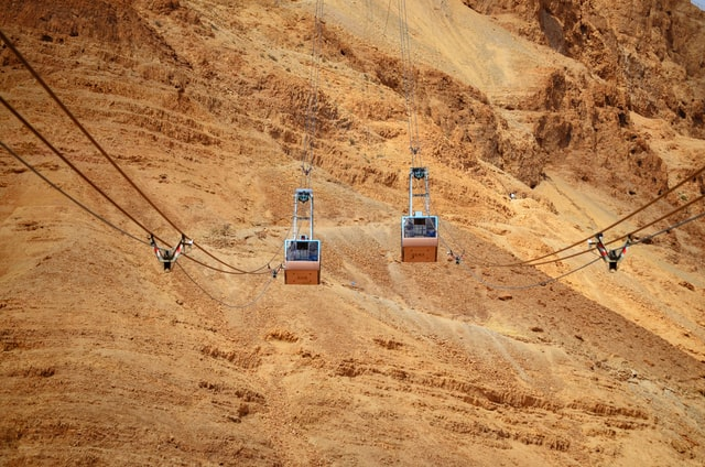 masada national park with a driver